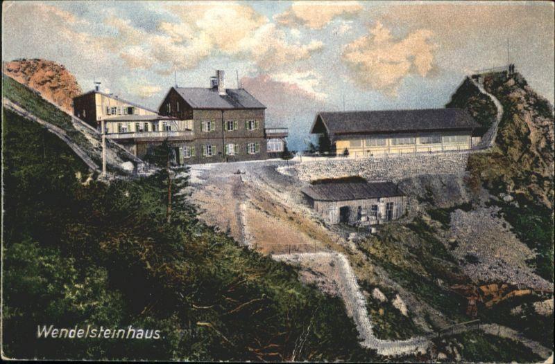 AK Bayrischzell Panorama mit Wendelstein Pension Haus