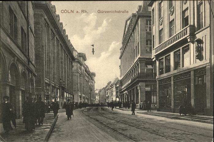 Koeln Guerzenichstrasse Kat. Koeln