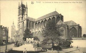Gand Belgie La Cathedrale St.Bavon et le Monument des freres Van Eyck Kat.