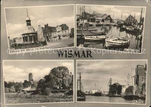 Wismar Mecklenburg Vorpommern Brunnen Alter Schwede Reuterhaus Hafen Fischerboot Dampfer Vogelsang / Wismar /Wismar Stadtkreis