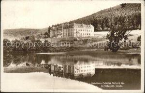 Ilmenau Goethe Schule Ritzebuehler Teich Kat. Ilmenau