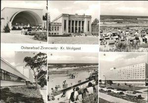 Zinnowitz Ostseebad Usedom Konzertpavillon Kulturhaus Strand IG Wismut Erholungsheim Roter Oktober Kat. Zinnowitz