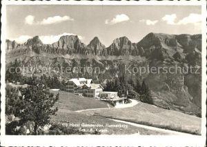 Flums Hotel Gamperdon Flumserberg Churfirsten Appenzeller Alpen Kat. Flums