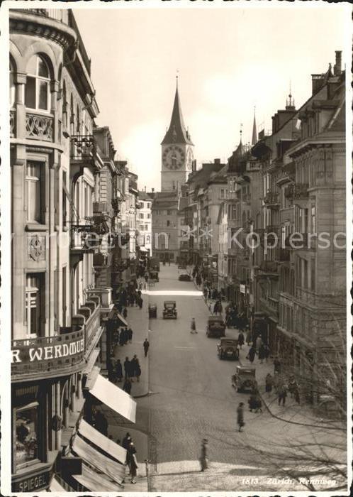 Zuerich Strasse Autos / Zuerich /Bz. Zuerich City