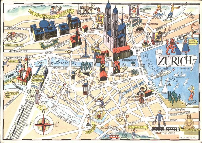 Zuerich Stadtkarte / Zuerich /Bz. Zuerich City