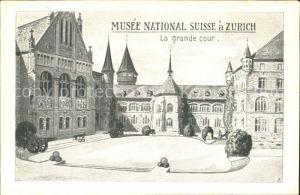 Zuerich ZH Musee National Suisse La grande Cour / Zuerich /Bz. Zuerich City