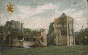 Santpoort Ruine van Brederode Wappen Kat. Niederlande