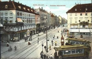 Karlsruhe Oestliche Kaiserstrasse Strassenbahn Kat. Karlsruhe