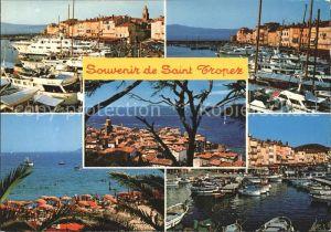 Saint Tropez Var Hafen Strand Cote d Azur Kat. Saint Tropez