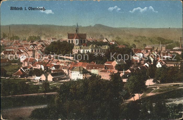 Altkirch Haut Rhin Elsass Ortsansicht mit Kirche Kat. Altkirch