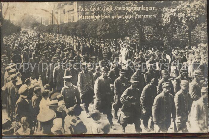 Karlsruhe Gefangene Franzosen aus deutschen Gefangenenlagern 1. Weltkrieg Kat. Karlsruhe