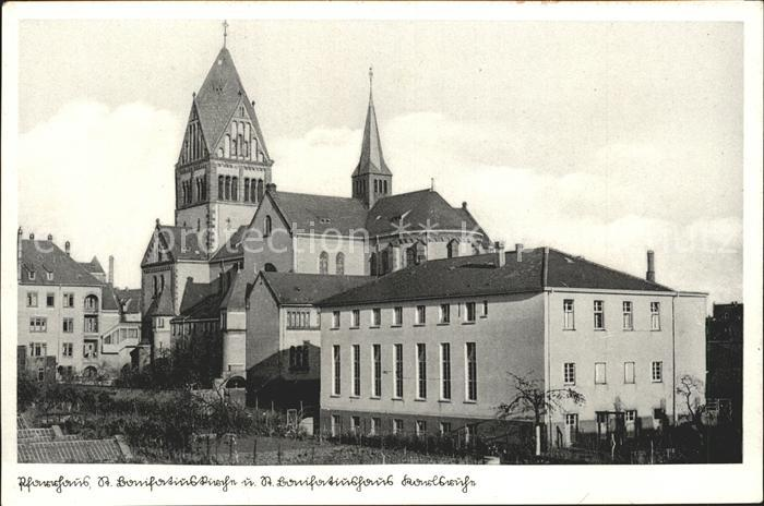 Karlsruhe Pfarrhaus St. Bonifatiuskirche und St Bonifatiushaus Kat. Karlsruhe