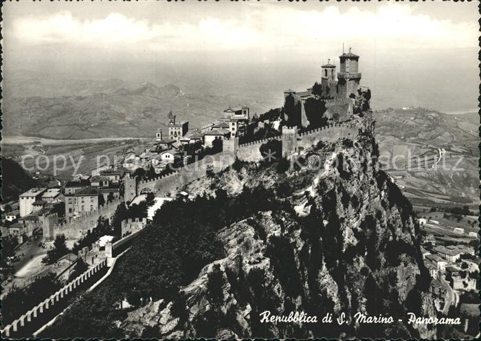 San Marino San Marino Fliegeraufnahme Kat. San Marino