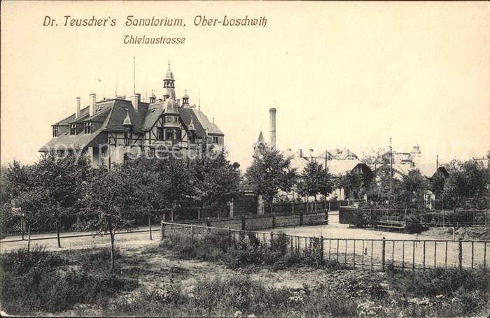 Ober Loschwitz Dr Teuschers Sanatorium Thielaustrasse Stempel Sammlung Wollmann 1899 Kat. Dresden