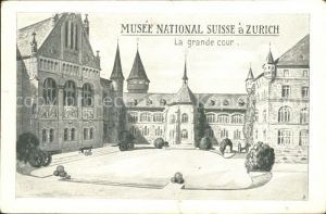 Zuerich Musee National Suisse La grande cour / Zuerich /Bz. Zuerich City
