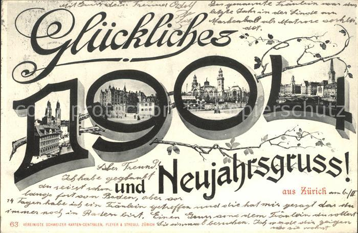 Zuerich Neujahrsgruss / Zuerich /Bz. Zuerich City