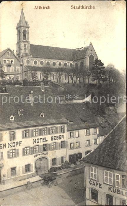 Altkirch Stadtkirche Hotel Geber  /  /