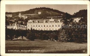 Karlsbad Eger Boehmen Richmond Parkhotel Kat. Karlovy Vary