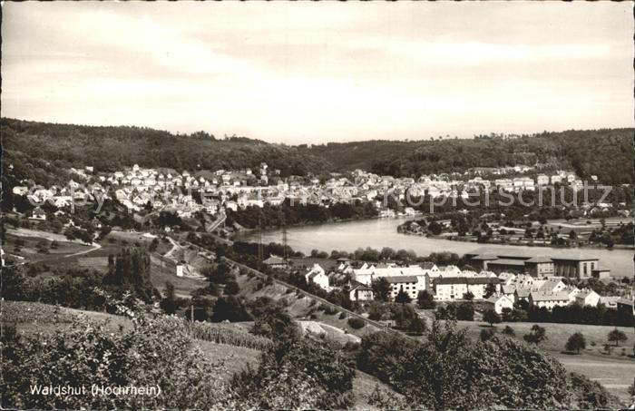 Waldshut Tiengen Rhein am Hochrhein Gesamtansicht Kat. Waldshut Tiengen