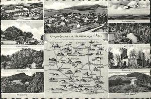 Poppenhausen Wasserkuppe und Umgebung Burgruine See Segelflugzeug Landkarte Kat. Poppenhausen (Wasserkuppe)