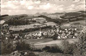 Poppenhausen Wasserkuppe mit Milseburg und Maulkuppe Kat. Poppenhausen (Wasserkuppe)