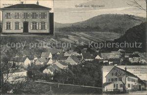 Weisweil Schulhaus Buchbinderei-Handlung Johann Naegele  /  /