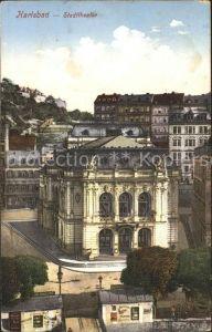 Karlsbad Eger Boehmen Stadttheater Kat. Karlovy Vary