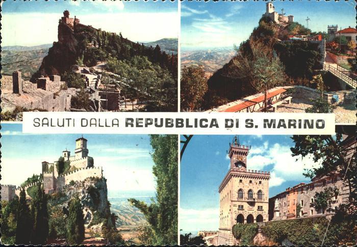 San Marino San Marino Burgansichten Kat. San Marino