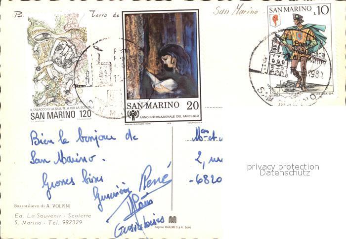 San Marino San Marino Burgansichten Kat. San Marino 1