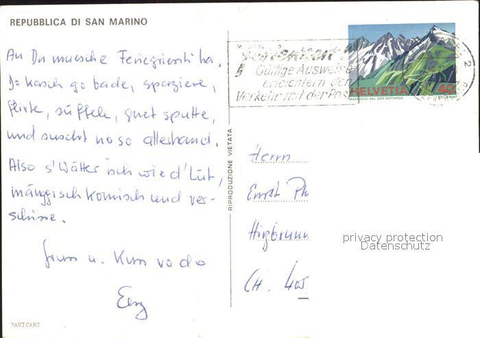 San Marino San Marino Burg Kat. San Marino 1