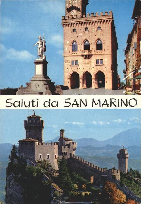 San Marino San Marino mit Burg Kat. San Marino