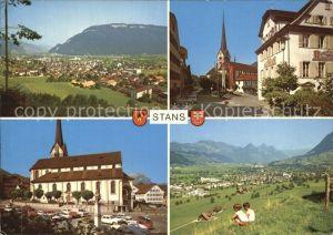 Stans Nidwalden Rathaus Pfarrkirche Kat. Stans
