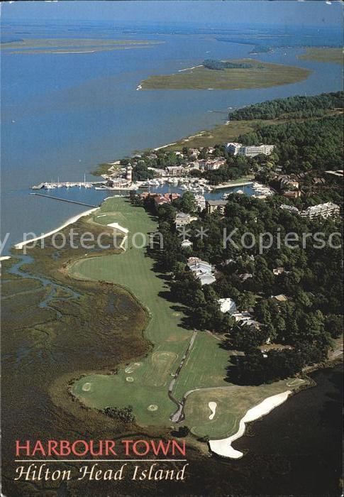 Hilton Head Island Harbour Town Golfplatz Fliegeraufnahme Kat. Hilton Head Island