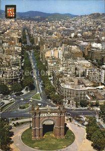 Barcelona Cataluna Fliegeraufnahme Arco del Triunfo y Paseo San Juan Kat. Barcelona