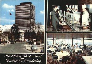 Bonn Rhein Bundeshaus Restaurant Deutschen Bundestag  Kat. Bonn