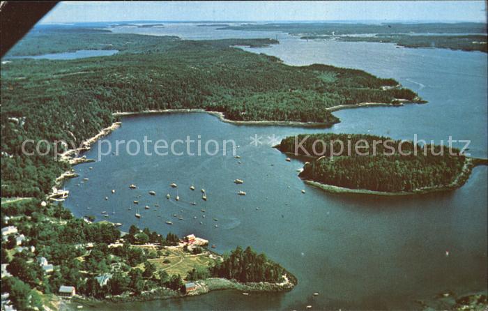 Brooksville Maine Buck Harbor Harbor Island  Kat. Brooksville