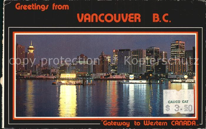 Vancouver British Columbia Coal Harbour lights from the jewel like city  Kat. Vancouver