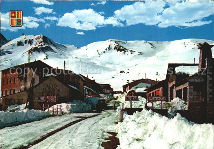 Andorra La Vella Winterlandschaft Kat. Andorra La Vella