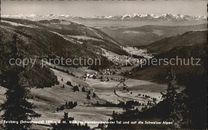 Feldberg Schwarzwald Menzenschwander Tal Schweizer Alpen Kat. Feldberg (Schwarzwald)