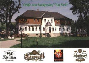 Crottendorf Erzgebirge Landgasthof am Park Kat. Crottendorf Erzgebirge