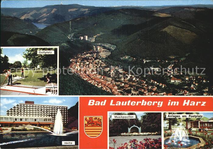 Bad Lauterberg Golfplatz Musikpavillon Postplatz Kat. Bad Lauterberg im Harz