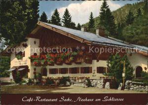 Neuhaus Schliersee Cafe Restaurant Sachs Kat. Schliersee