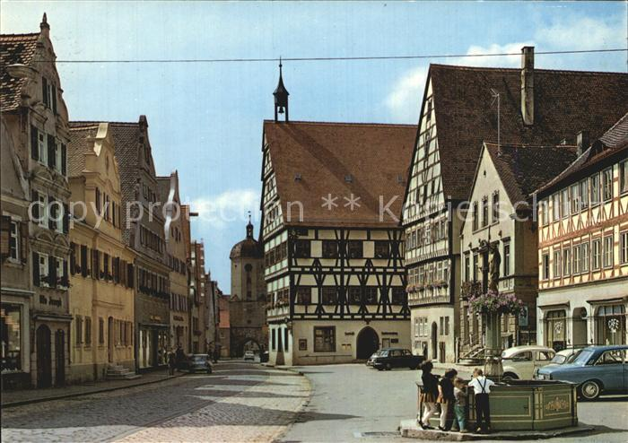 Oettingen Marktplatz Kat. Oettingen i.Bay.