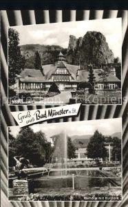 Bad Muenster Stein Ebernburg Badhaus mit Rheingrafenstein Kurhaus Kurpark Kat. Bad Muenster am Stein Ebernburg