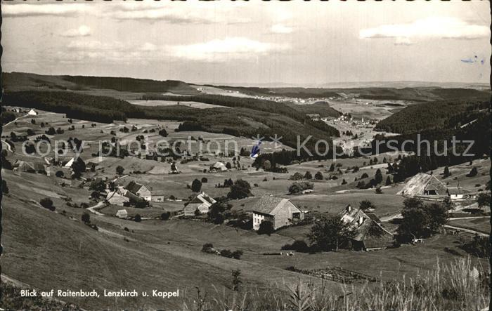 Raitenbuch Lenzkirch und Kappel Panorama Kat. Lenzkirch