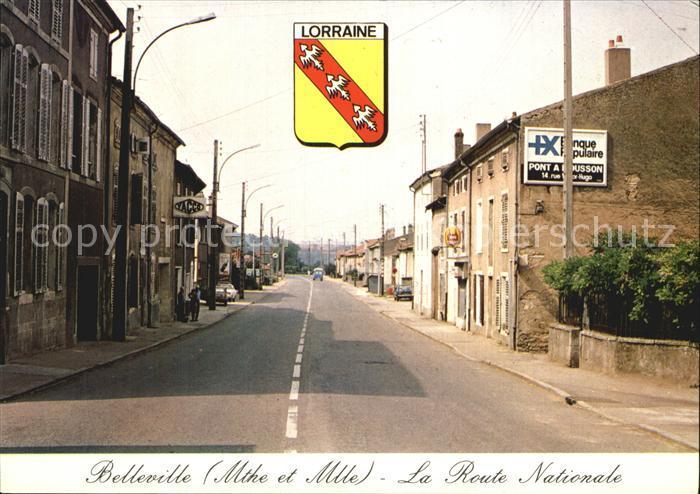Belleville Meurthe et Moselle La Route Nationale  Kat. Belleville