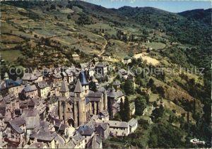 Conques Aveyron Vue aerienne sur l eglise abbatiale Kat. Conques