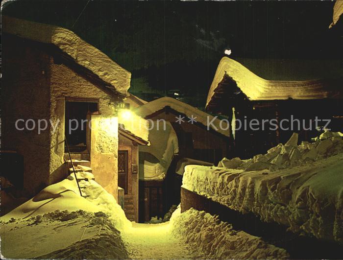 Grimentz Winternacht im Bergdorf Kat. Grimentz
