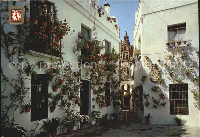 Cordoba Andalucia Calleja y Plaza de las Flores Kat. Cordoba