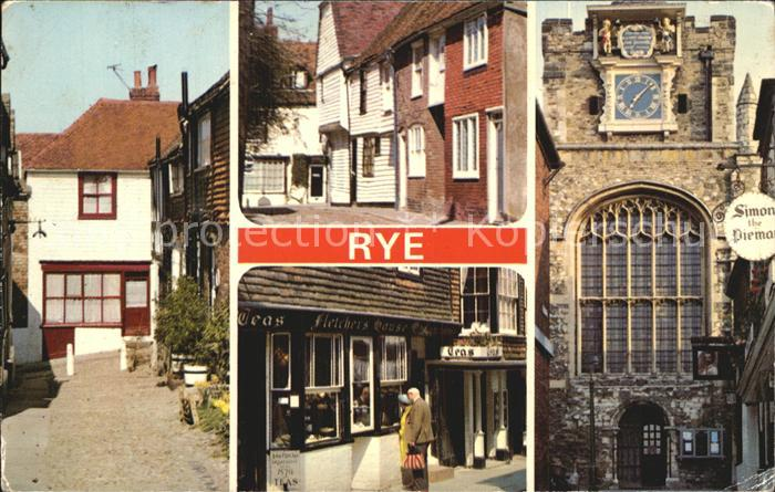 Rye East Sussex Church Square Traders Passage Saint Mar s Church Kat. East Sussex